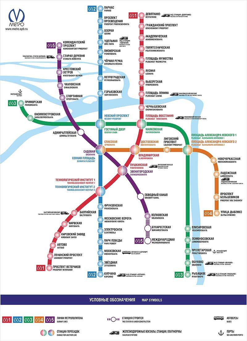 Новая схема петербургского метро